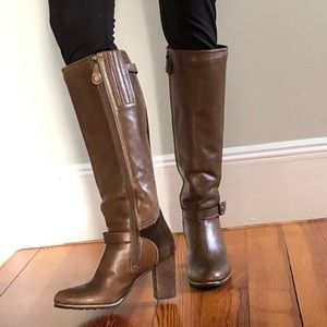 Fabianelli Italian leather brown heeled boots 6.5